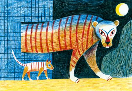 © Katrin Stangl aus dem Buch «Bienvenue au zoo de Kaboul» von Katrin Stangl und Didier Lévy; Éditions Sarbacane, 2009