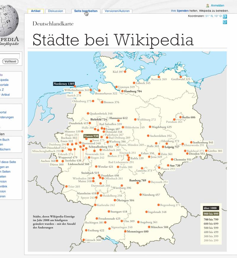 Deutschlandkarte Stadte Bei Wikipedia Zeit Online